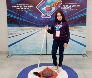 Волонтеры на «World junior curling championships Krasnoyarsk-Russia»